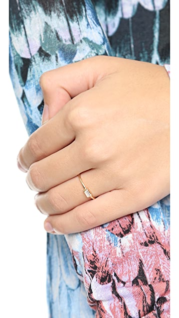 Shashi Baguette Bar Ring