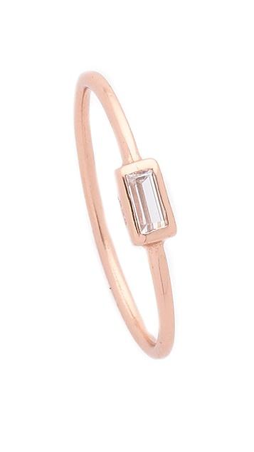 Shashi Baguette Bar Ring