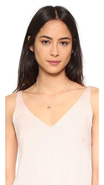 Shashi Half Circle Pendant Necklace