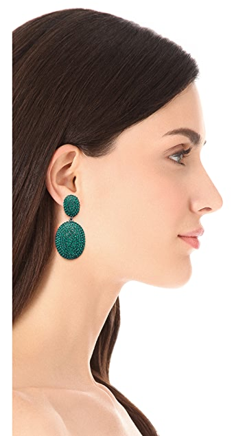 Shay Pave Oval Earrings