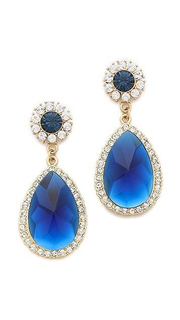 Shay Teardrop Crystal Border Earrings