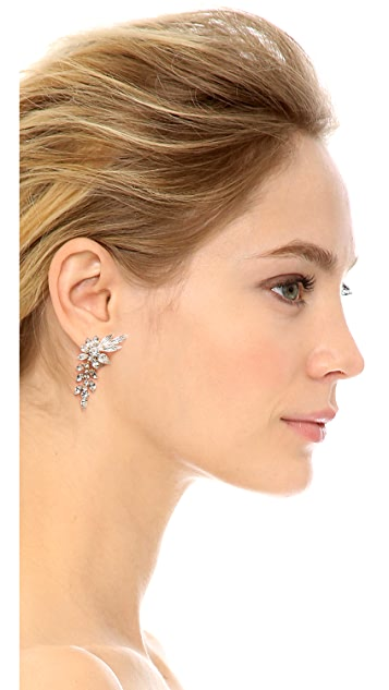 Shay Clip On Drop Flower Earrings