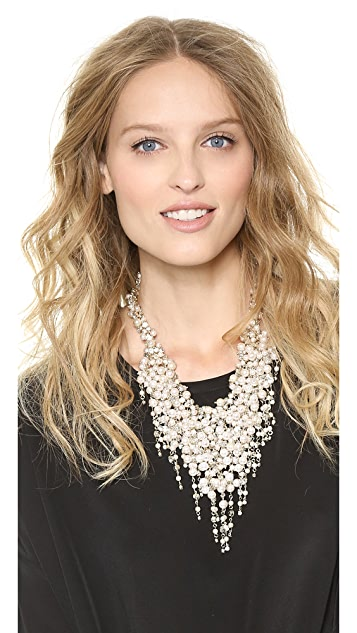 Shay Imitation Pearl Fringe Necklace