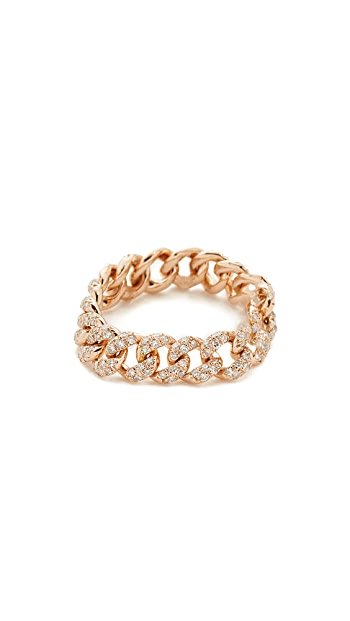 SHAY 18k Gold Essential Link Ring - Rose Gold/Clear