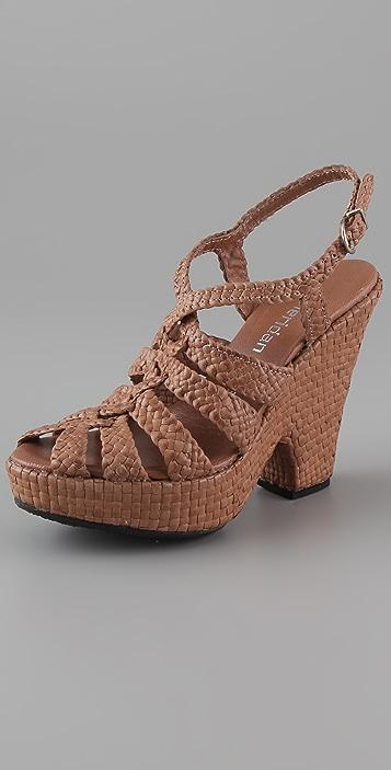 Sheridan Mia Wishbone Cutout Wedge Sandals