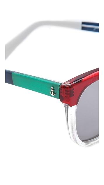 Sheriff&Cherry Colorblock Sunglasses