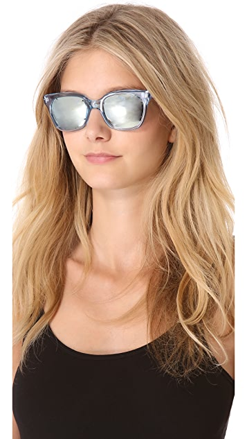 Sheriff&Cherry Colorblock Mirrored Sunglasses