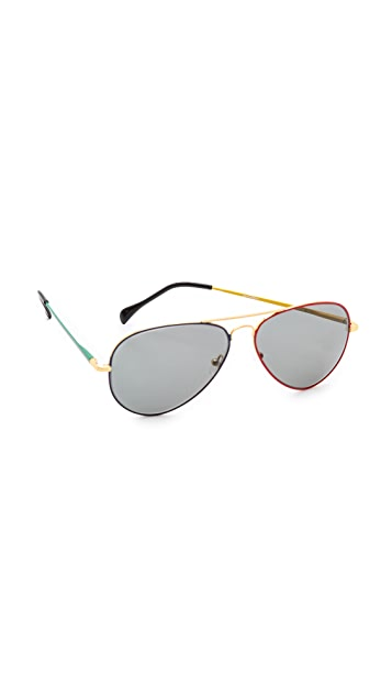 Sheriff&Cherry G0008 Aviator Olympic Sunglasses