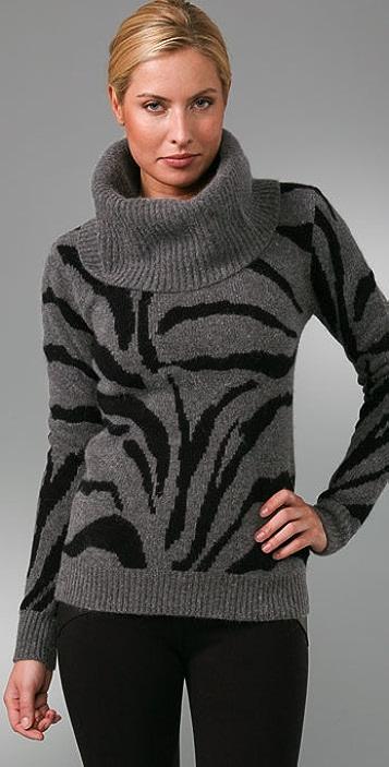Sheri Bodell Tiger Cowl Neck Sweater