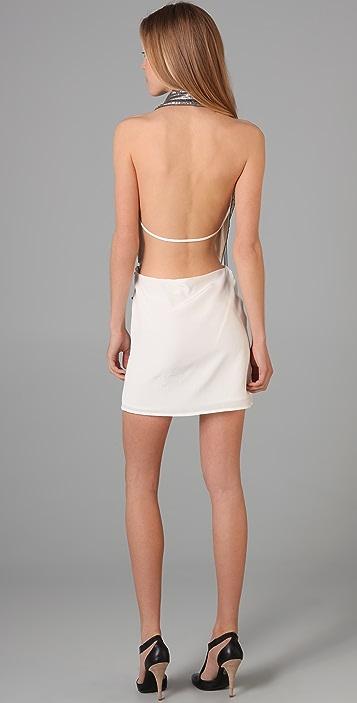 Sheri Bodell Wrap Halter Mini Dress