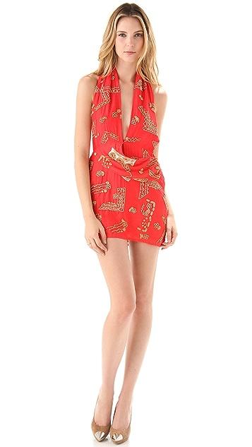 Sheri Bodell Beaded Halter Mini Dress