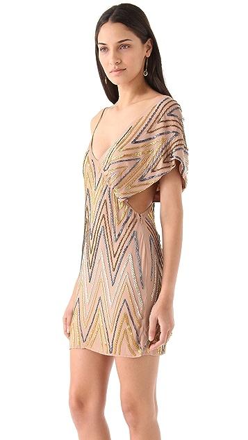 Sheri Bodell Shift Dress with Draped Shoulder