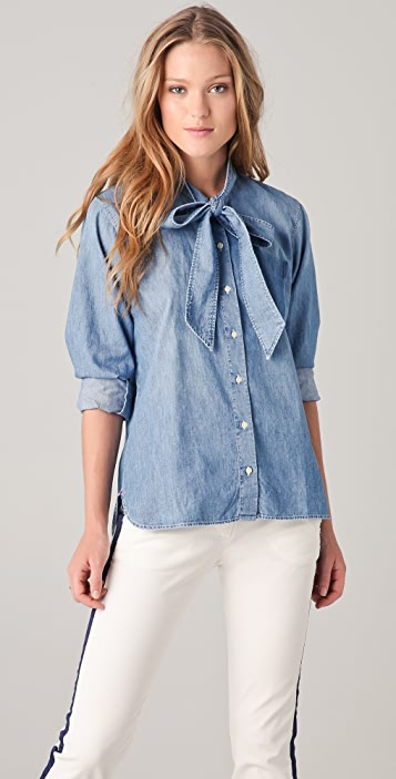 Shine Rehab Denim Button Down