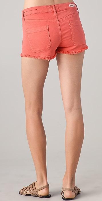Shine Jane Rhythmic Denim Shorts