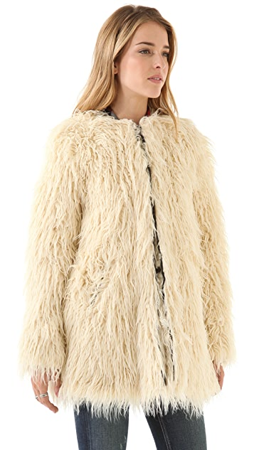 Shine Zulma Faux Fur Coat