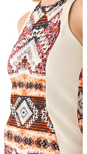 Shona Joy Scratch the Surface Panel Dress