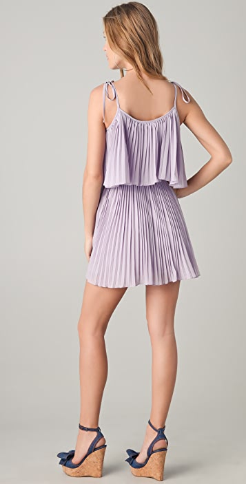 6 Shore Road Gibson Pleated Mini Dress