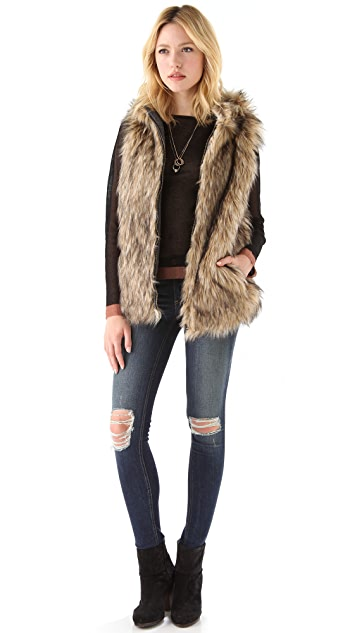 nadii Reversible Faux Fur Vest