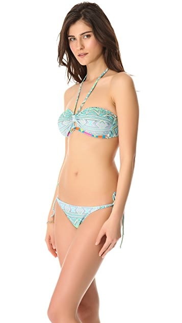 6 Shore Road Juju Embroidered Bikini Top