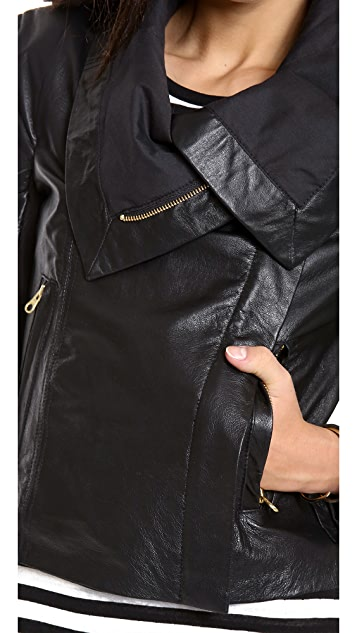 6 Shore Road Chloe Leather Moto Jacket