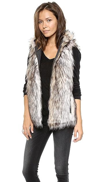 6 Shore Road Hopi Reversible Faux Fur Vest