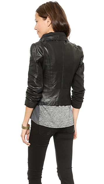 nadii Chole Leather Moto Jacket