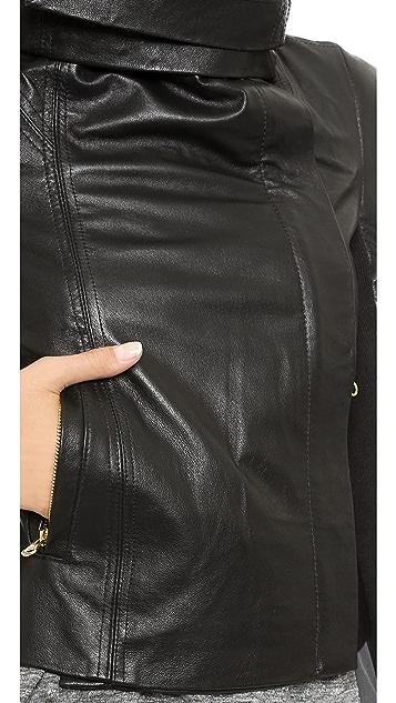 6 Shore Road Chole Leather Moto Jacket