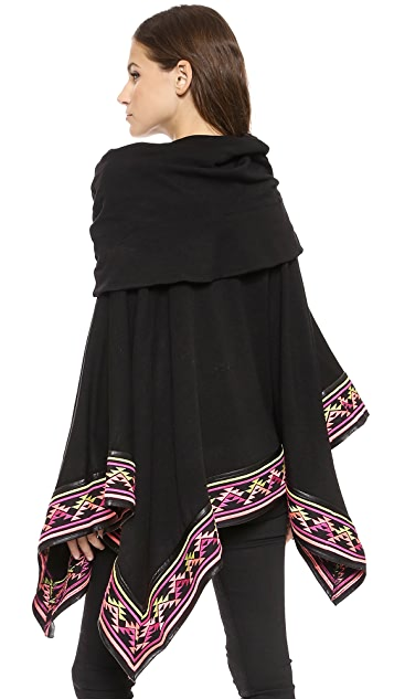 nadii Deserts Embroided Poncho
