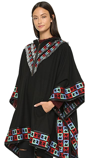 6 Shore Road Gypsy Embroidered Poncho