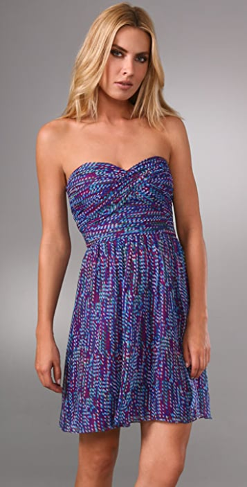 Shoshanna Strapless Twist Dress