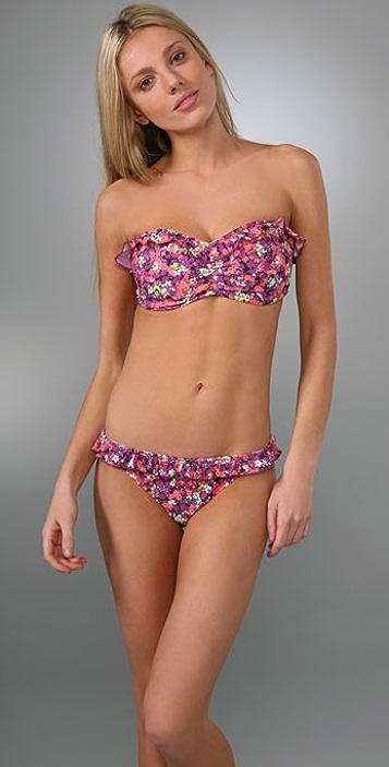 Shoshanna Daisy Garden Bikini Top