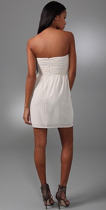 Shoshanna Beaded Strapless Mini Dress
