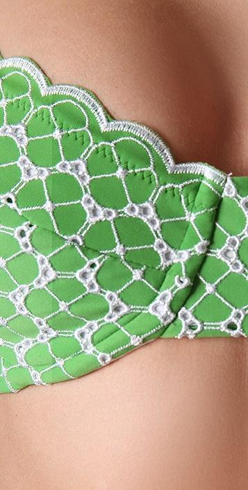 Shoshanna Eyelet Scallop Bikini Top