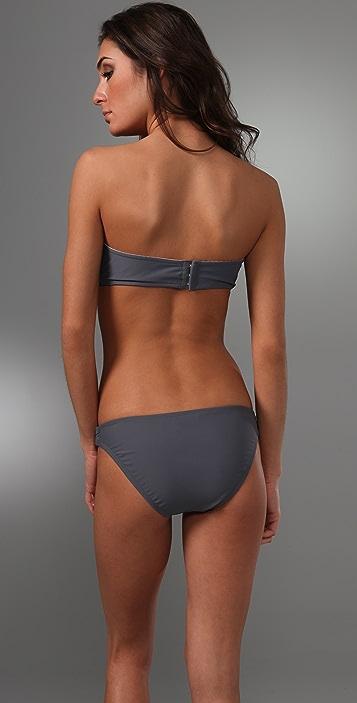 Shoshanna Solid U Bandeau Bikini Top
