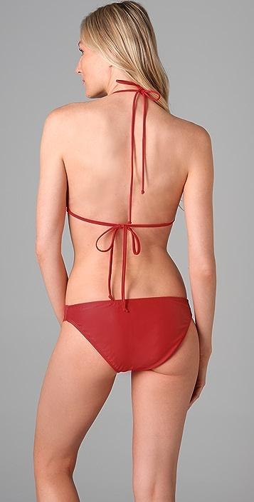Shoshanna Solid Crossover Bikini Top