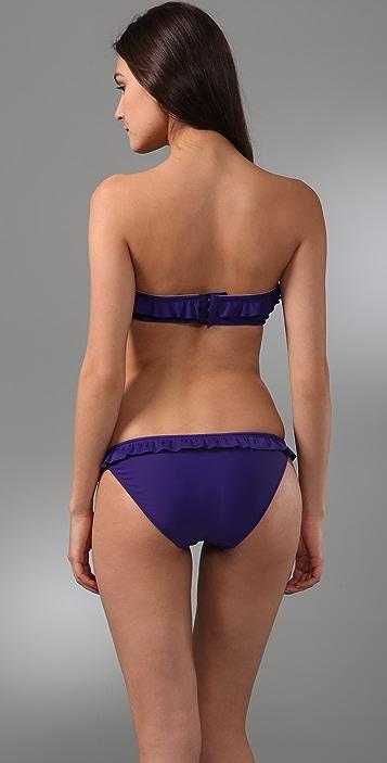 Shoshanna Ruffle Bandeau Bikini Top