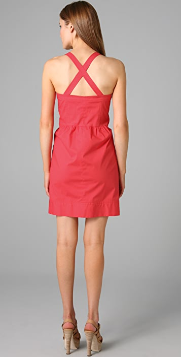 Shoshanna Button Front Sheath Dress