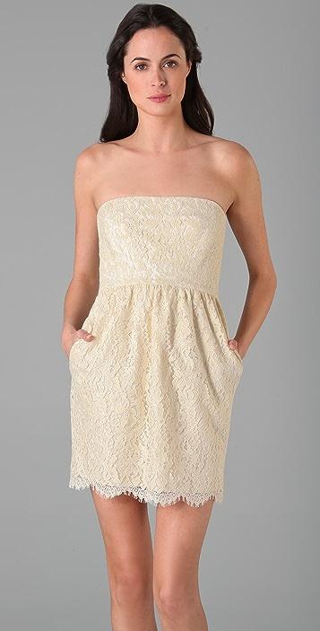 Shoshanna Strapless Lace Dress