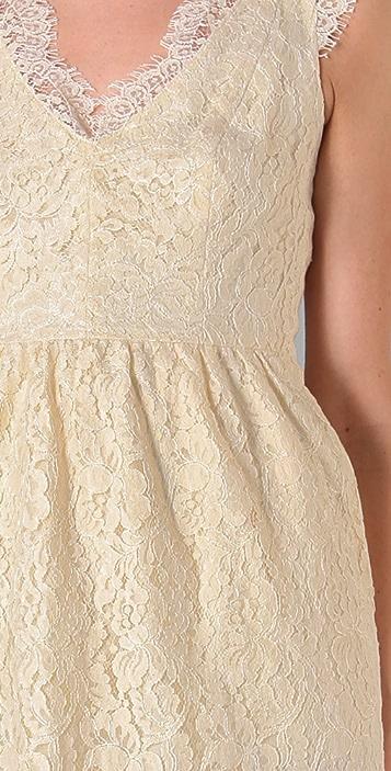 Shoshanna Scallop Lace Sheath Dress