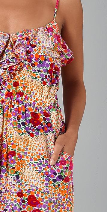 Shoshanna Flounce Front Dress