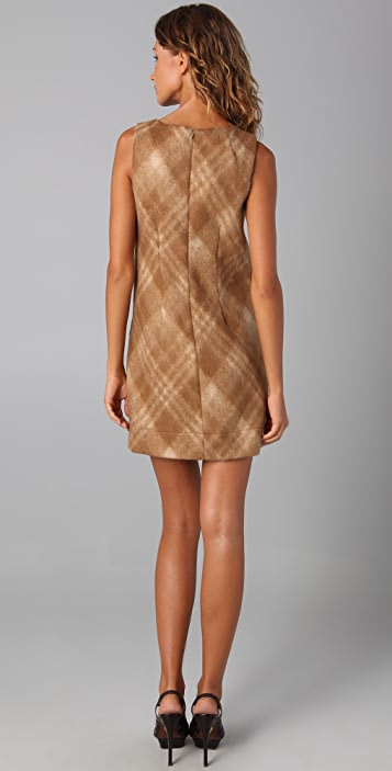 Shoshanna Plaid Pocket Shift Dress