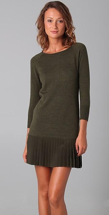 Shoshanna Pleated Sweater Dress