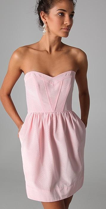 Shoshanna Sweetheart Strapless Dress