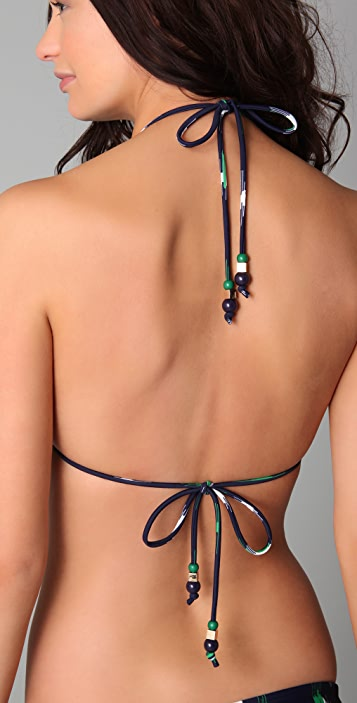 Shoshanna Set Sail Triangle Bikini Top
