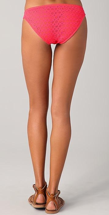 Shoshanna Coral Crochet Bikini Bottoms