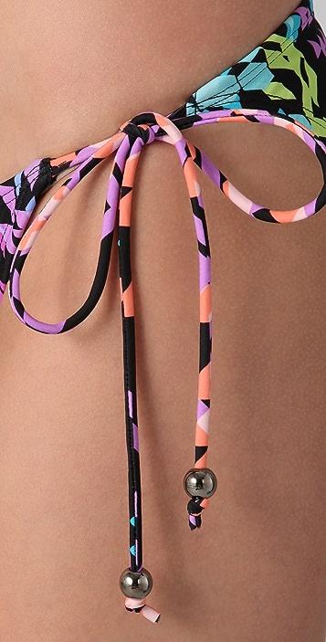 Shoshanna Kailua Geo String Bikini Bottoms
