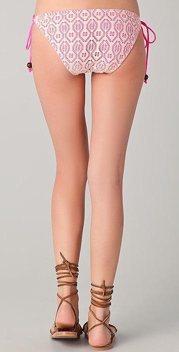 Shoshanna Crochet Hot Pink String Bikini Bottoms