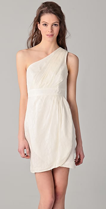 Shoshanna Melanee One Shoulder Dress
