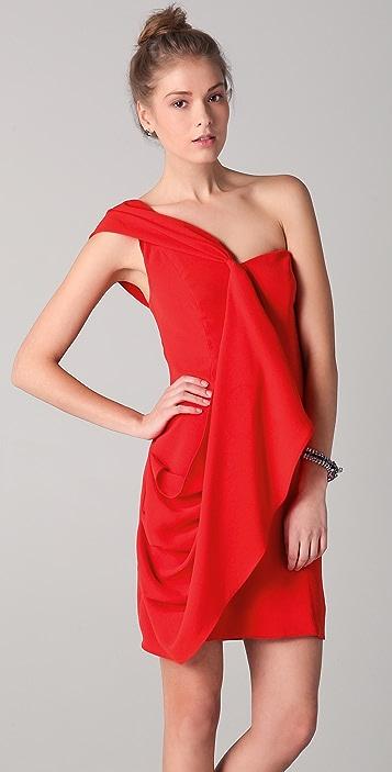 Shoshanna Mackenzie One Shoulder Dress