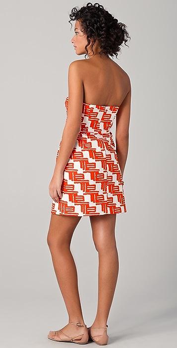 Shoshanna Reilly Zulu Print Party Dress